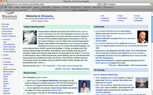 I am on Wikipedia's main page!