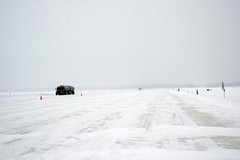 Mackenzie Ice Crossing 2 (Dcysiv Moment) Tags: road winter snow canada cold ice truck river landscape frozen crossing arctic transportation northwestterritories tanker haul mackenzieriver iceroad fortprovidence