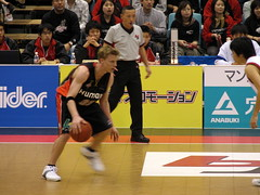 Osaka Evessa Player on the Dribble - Kadoma, Osaka, Japan (glazaro) Tags: city basketball japan japanese asia stadium arena dome  osaka sendai kansai kadoma namihaya bjleague evessa 89ers