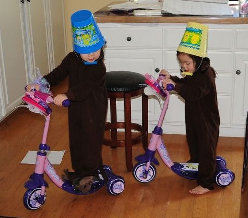 The buckethead monkeys on scooters (sounds like a band name, doesn't it?)