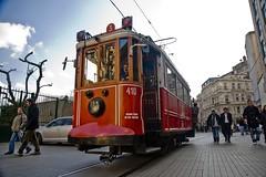 Historic tram on stiklal Avenue (lachance) Tags: turkey publictransportation tram istanbul historic streetcar taksim pedestrianstreet