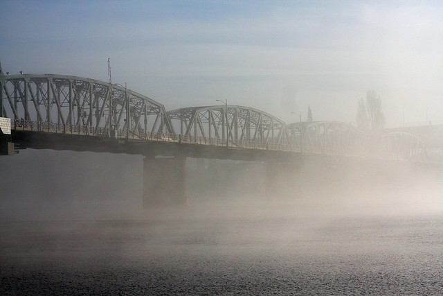 fog, hawthorne bridge