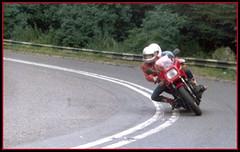 Filfy Wilf going for it! (davekpcv) Tags: red bike motorbike motorcycle biker kawasaki superbike motorrad gpz1100 kawasakigpz1100 unitrak