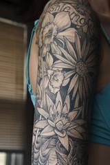 (lizgf) Tags: tattoo flower lotus gaelic tatt amazing tattoos sleeve fullsleeve amazingtattoo bug bugs worms dirt spiderweb