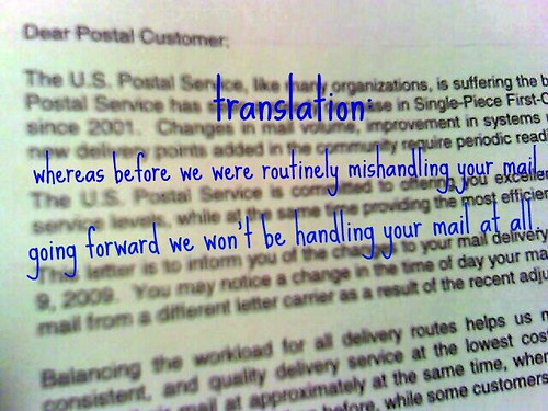 dear postal customer.