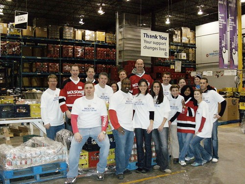 Calgary Sales team volunteers at Calgary interfaith Food Bank