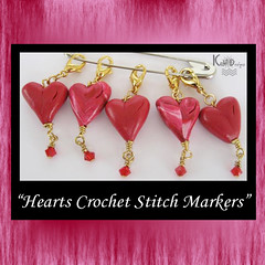 Hearts Crochet Stitch Markers