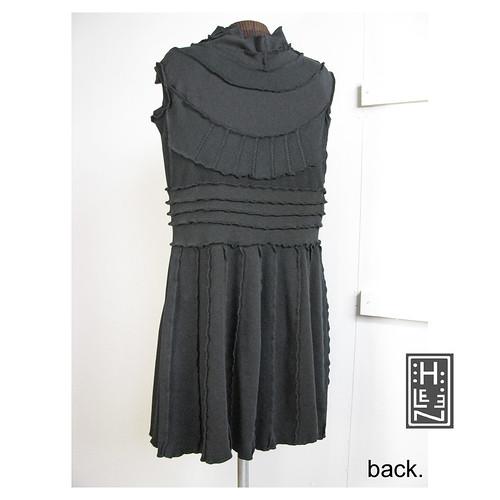 tie me up (short black dress), back