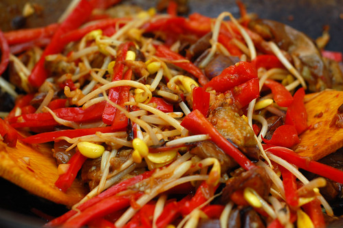 Chinese Eggplant Szechuan with Bean Sprouts