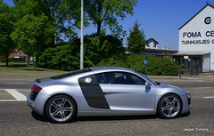 Audi R8 (simons.jasper) Tags: road summer car jasper belgium belgie sony special alfa autos audi simons a100 digest grijs supercars r8 zonhoven spotswagens