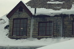 Ice on the dormer
