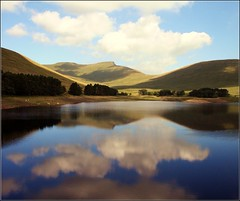 Glass Lake (The Groovster) Tags: trees lake mountains water wales clouds reflections bluesky reservoir breconbeacons ripples penyfan cornddu cribyn contemplativephotography welshflickrcymru jalalspagesnaturealbum thegroovster upperneuaddreservoir vosplusbellesphotos