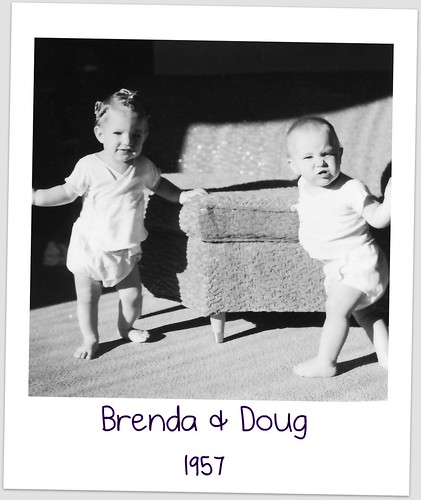 Brenda in curlers with Doug