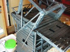 Lord of the Rings Siege Tower (Wyrmworld) Tags: model 28mm wip lordoftherings weta gamesworkshop scratchbuilt siegetower