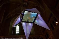 Netherlands, Amersfoort - Video Art @ OVL (Foto van den Berg) Tags: blue light art netherlands geotagged licht tv video nikond70 kunst nederland amersfoort olv langejan fotovandenbergcasemanl nikonnikkor1224mmf4gedifafsdx geo:lat=52155162 geo:lon=5387287
