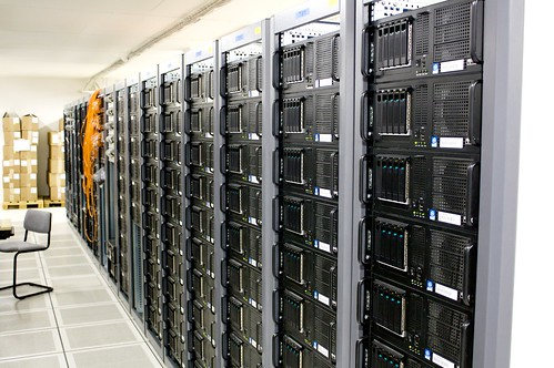 Server room by torkildr, on Flickr