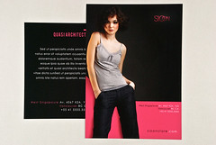 Fashion Boutique Postcard (inkdphotos) Tags: pink woman black fashion shop retail shopping store outfit clothing model post mail postcard style clothes card boutique trendy accessories wardrobe brand apparel mailing garment