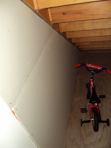 Under Stairs Closet Interior After April 2009