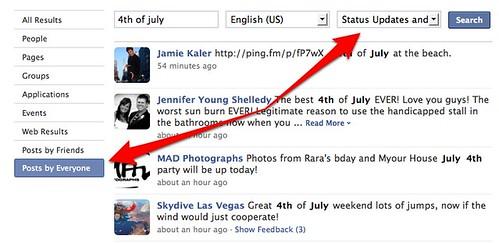Facebook Status Search