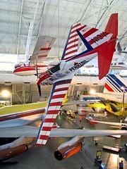 Stunt plane (winninator) Tags: smithsonian dc washington dulles chipmunk nationalairandspacemuseum annex stuntplane udvarhazycenter dehavillandcanada dhc1a lpfloating