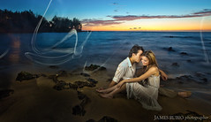 Yvonne & Tom Engagement (James Rubio) Tags: sunset lightpainting love tom hawaii engagement yvonne bigisland kohala micropro litepanels