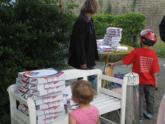 Brute stack of pizzas