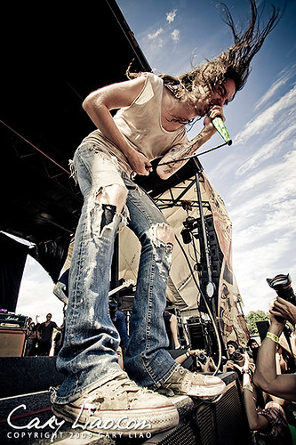 Underoath at Warped Tour 2009