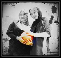 ~will always be there even to the end~ (huda mamat) Tags: woman love smile loving ball nikon friend veil friendship antique muslim hijab malaysia bowling mulheres caring framing sahabat malacca theraphy terapi norhafizah hudamamat nurulshima