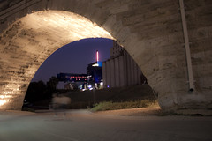 Trapped in the Night (Lunky Barsooth) Tags: minnesota downtown minneapolis stonearch stonearchbridge millruins