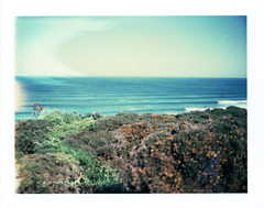 . (Rebecca...) Tags: uk sea summer film lines polaroid watergatebay cornwall surf waves expired lineup landcamera 669 polaroidautomatic450 30thmay2009 4501301 backwhenibelievedinthebarbequesummer kernowfornia