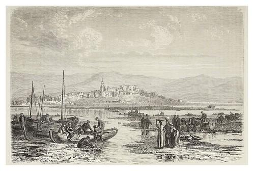 009-Vista de Hondarribia desde Hendaia 1873- Copyright 2009 álbum SIGLO XIX. Diputación Foral de Gipuzkoa