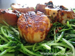 Scallops and Pea Shoots 7