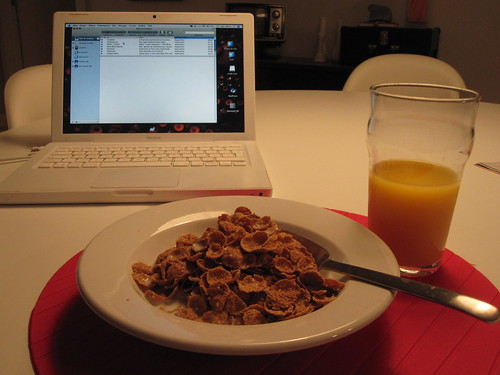 Cereals and oj - from groceries