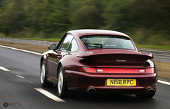 Porsche 993 Turbo (David J. Anderson) Tags: auto road camera red david slr car digital canon dark lens eos scotland is moving automobile motorway fast dial junction exotic turbo anderson porsche 17 motor usm dslr panning 85 dunfermline 993 carriageway 40d