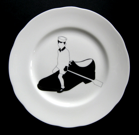 Ceramic plate by Emily Forgot.