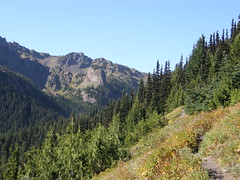 Views as trail to Marmot Pass opens up more.