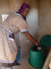 Goitsemang shows use of toilet