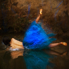 fringe (brookeshaden) Tags: blue reflection water ballerina destruction fringe explore splash graceful frontpage tutu paintingesque brookeshaden missoliviaclemens
