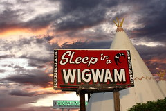 Wigwam Motel (jrtce1) Tags: sunset arizona 6 sign route66 village indian motel roadtrip americana teepee roadsideattraction holbrook kitch wigwam holbrookarizona motherroad wigwammotel jrtce1