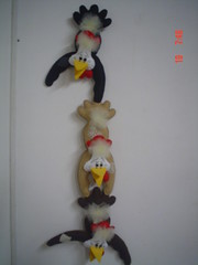 Galinhas Penduradas (Arte Arteira - Feltro) Tags: feltro decorao cozinha parede galinhas enfeite