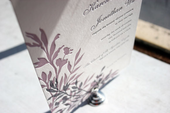 Smock Design Contest Honoree - Engadine Letterpress Wedding Invitation