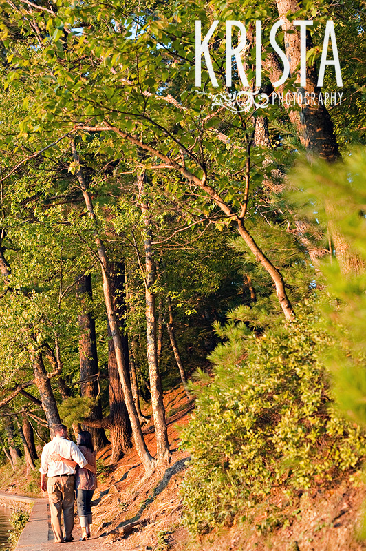 Walden Pond Engagement Session