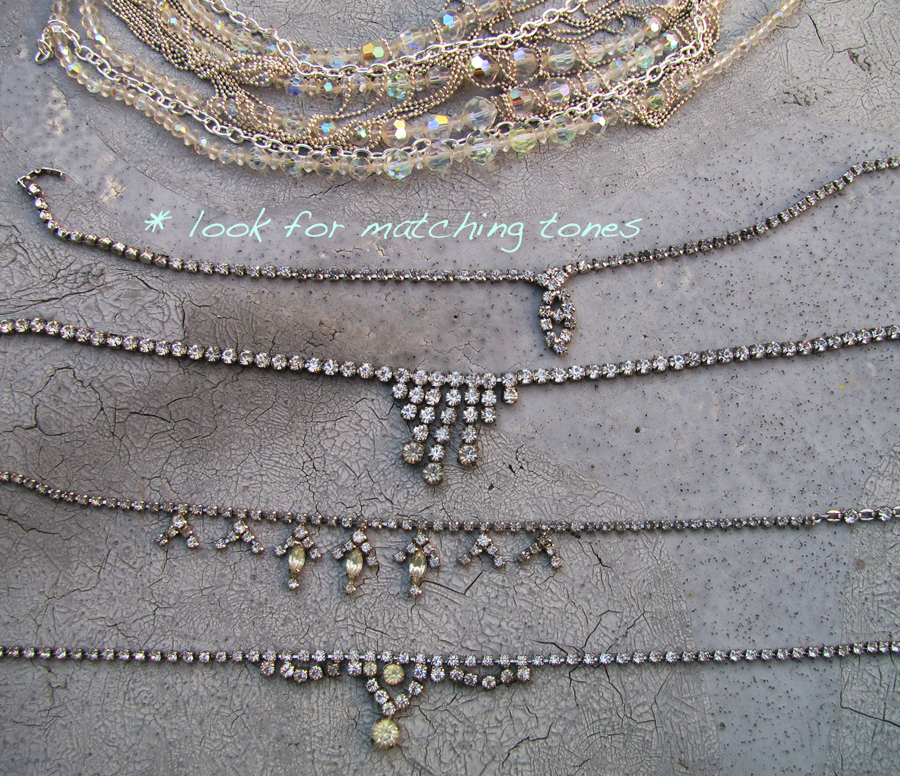 DIY-Tom-Binns-rhinestone-chains-pearl-chunky-choker-collar-necklace-3