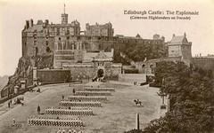 Edinburgh Castle Esplanade Cameron Highlanders 1920