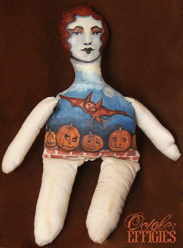 Red Bat and Pumpkins Doll