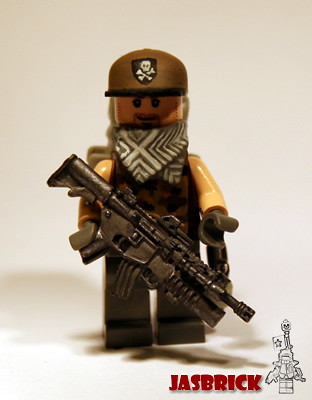 Military Contractor custom minifig