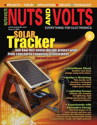 Nuts and Volts Magazine - August 2009 Issue - Solar Tracker