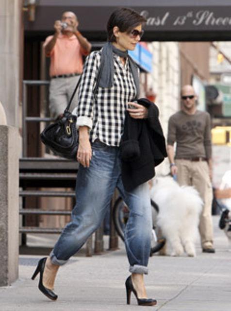 boyfriend jeans Katie Holmes