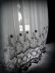 curtain blowing