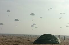 Landing over Egypt